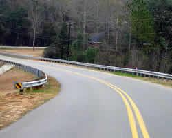 a curving road